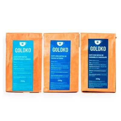 Kit degustação cafés em pó – 250g cada