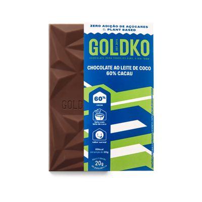 Tablete de chocolate ao leite de coco 60% cacau zero adição de açúcares - 20g