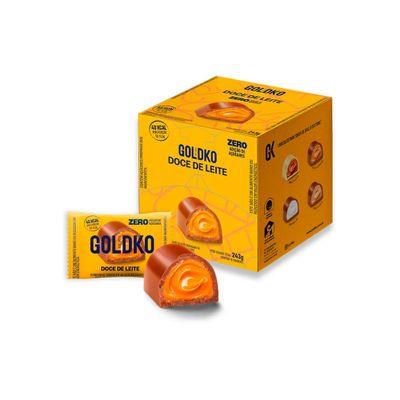Caixa de bombom doce de leite  zero adição de açúcares (48 Kcal por unidade) – 18 unidades