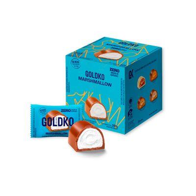 Caixa de bombom de marshmallow zero adição de açúcares (38Kcal por unidade) - 18 unidades