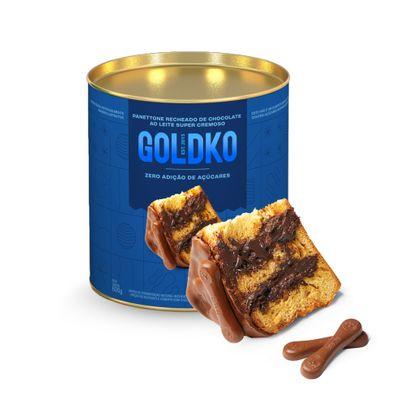 Panettone recheado de chocolate ao leite zero adição de açúcares 600g